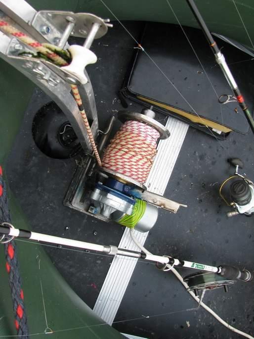 якорные лебедки для лодок пвх купить