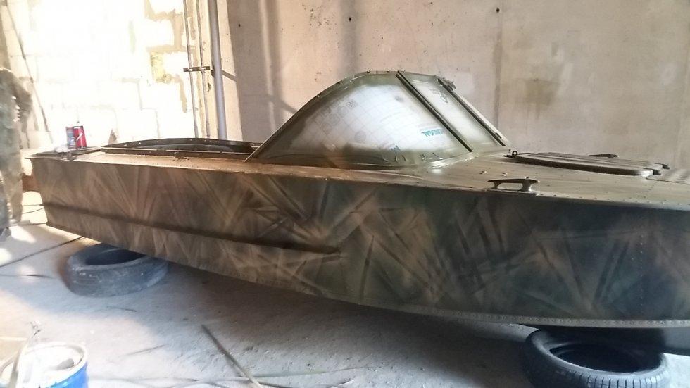 покраска лодки пвх видео