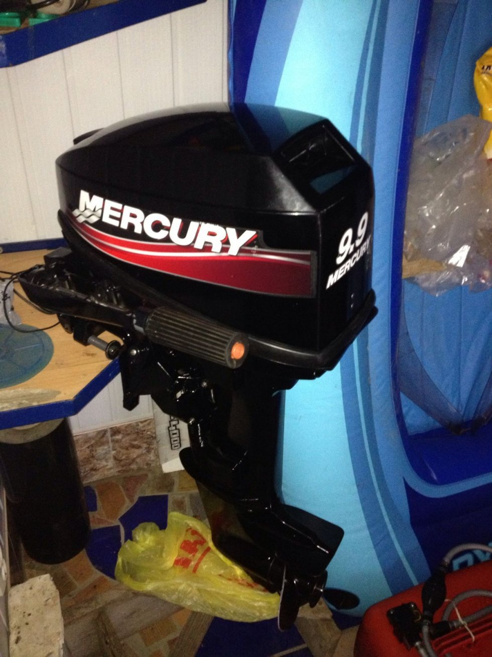 переделать лодочный мотор меркури 9.9 в 15