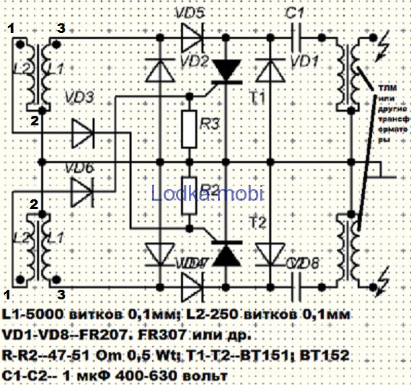 Электронные схемы зажигания лодочных моторов