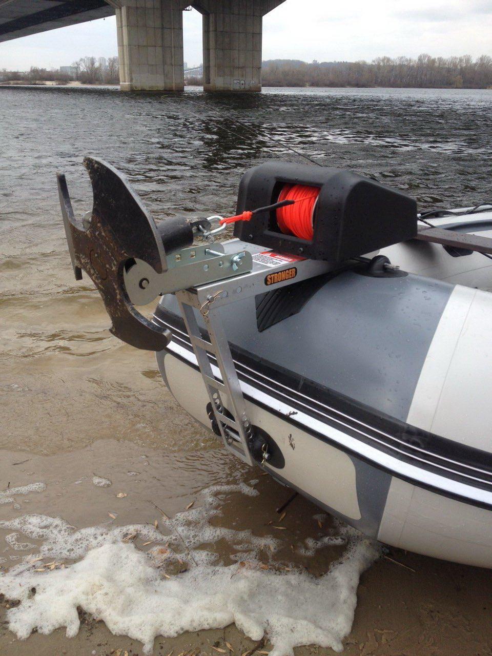 Якорная лебедка для лодки пвх своими руками Ручные якорные лебёдки Anchormate и Anchormate 2