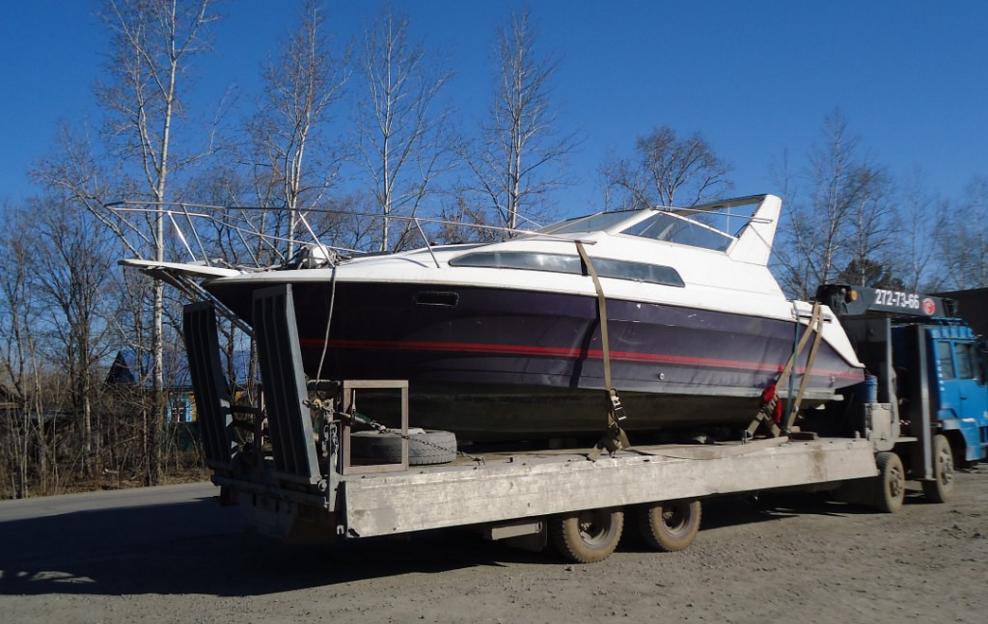 перевозка лодок на машине