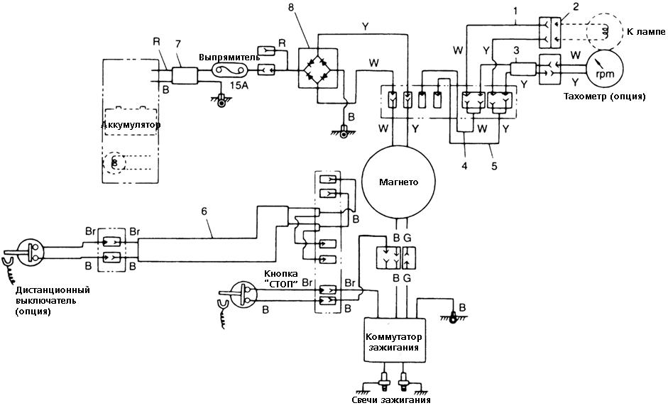 схема лодочных двухтактных двигателей
