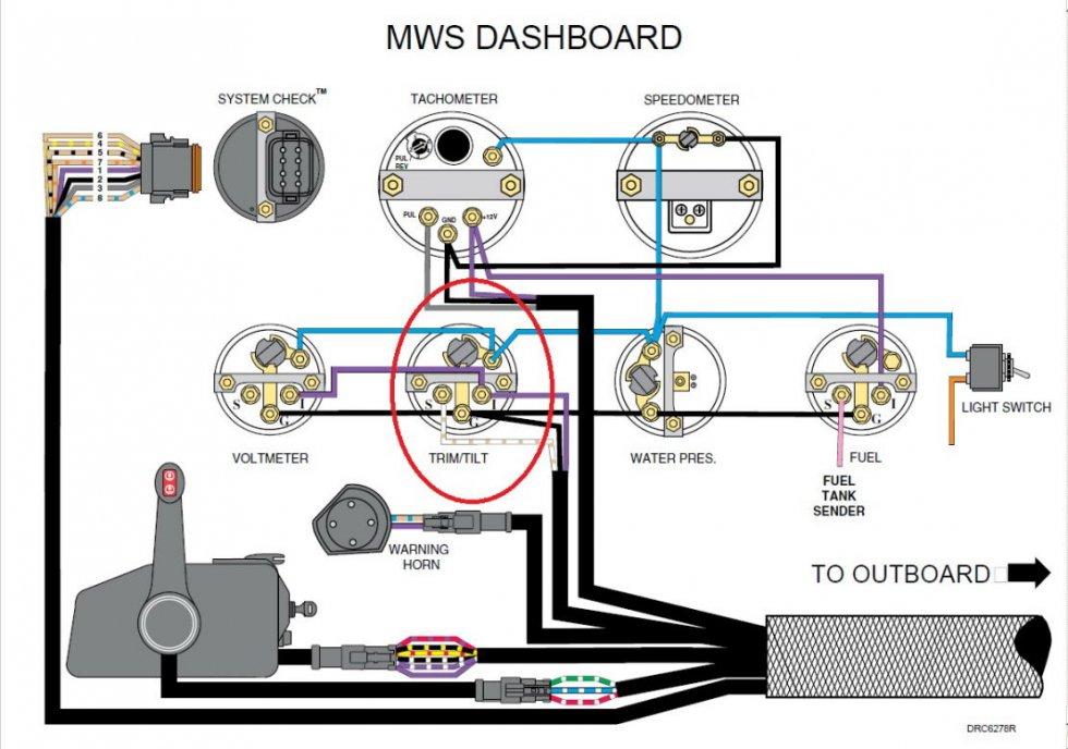 подключение тахометра kus к лодочному мотору