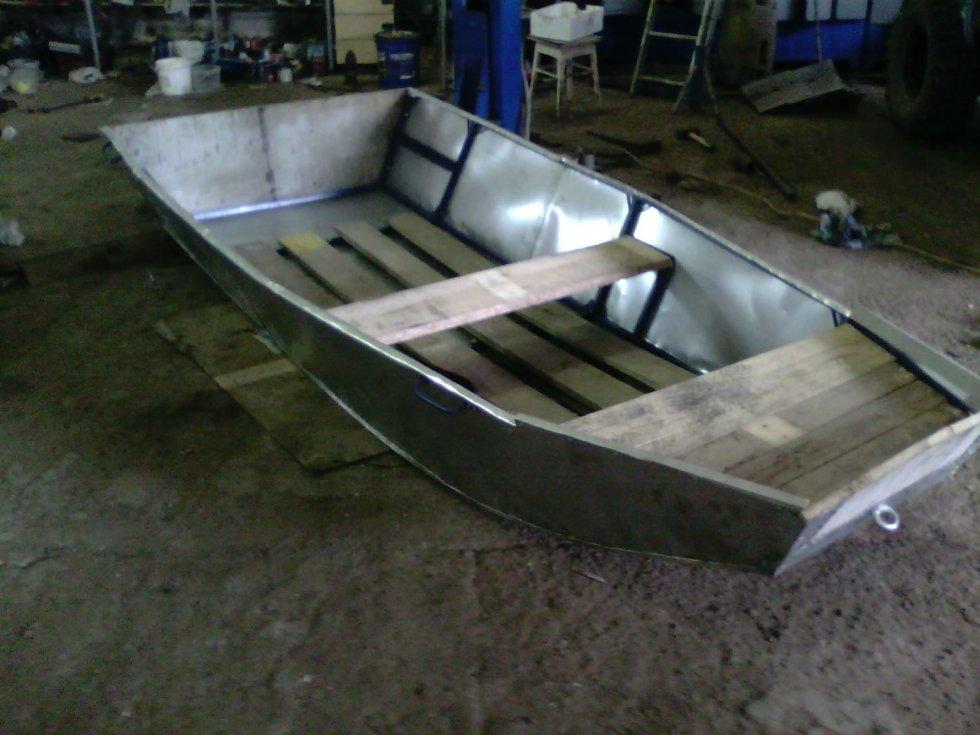 Моторная лодка своими руками из оцинковки 57