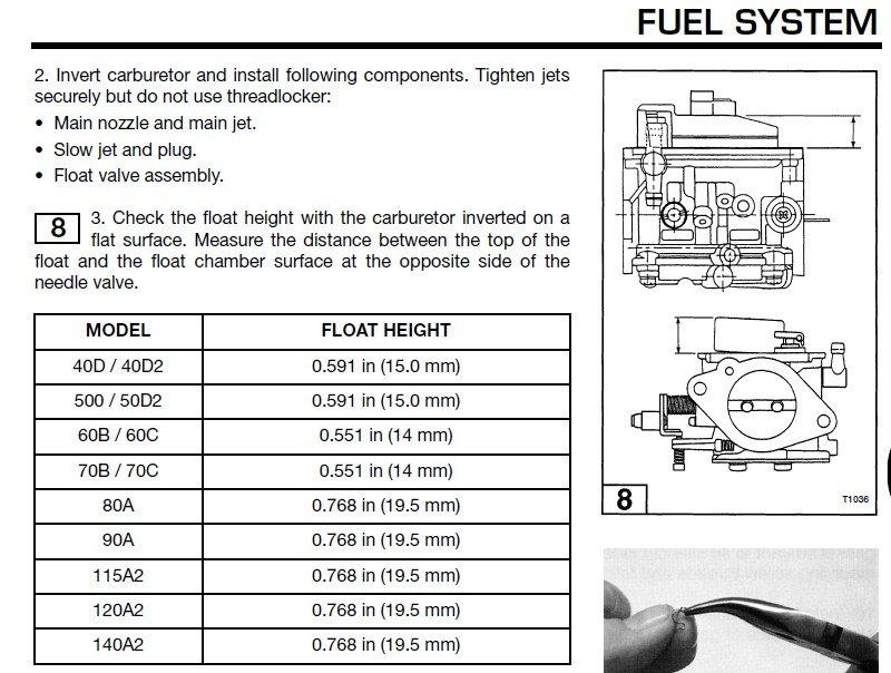 уровень топлива в карбюраторе лодочного мотора
