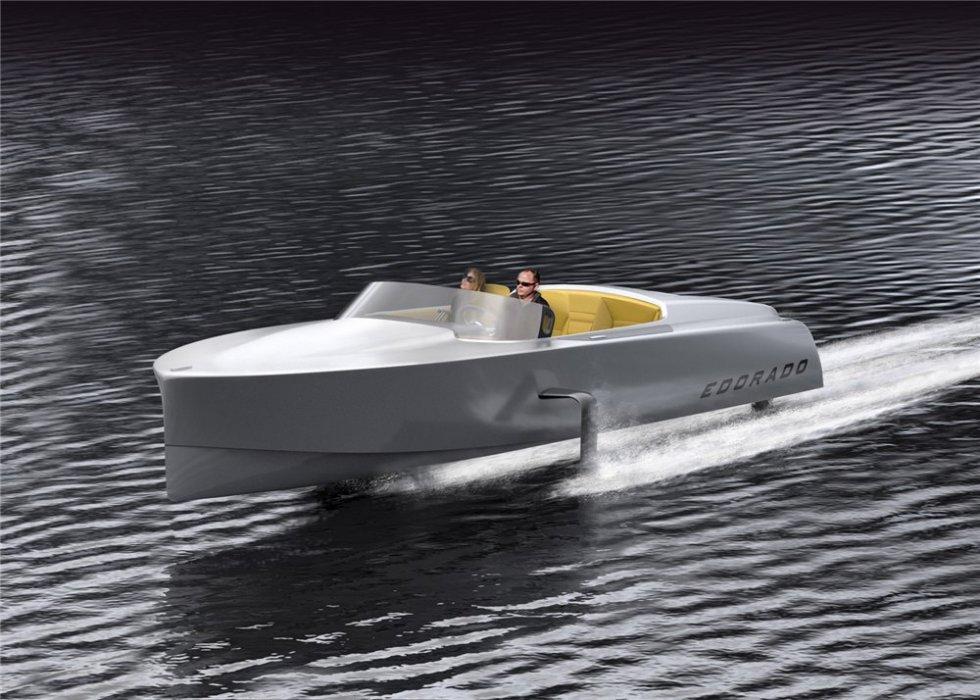 скорость лодки на крыльях