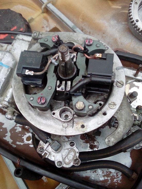 замена зажигания на моторе ветерок 8