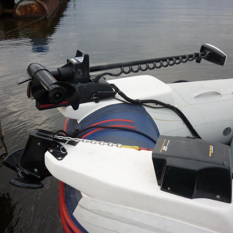 установка лебедки на лодку пвх