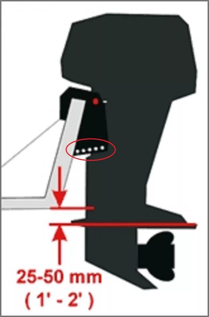 как правильно установить лодочный мотор по высоте видео