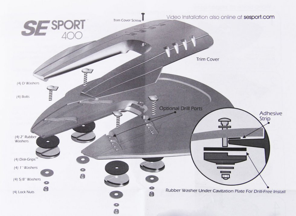 кавитационное крыло для лодочных моторов