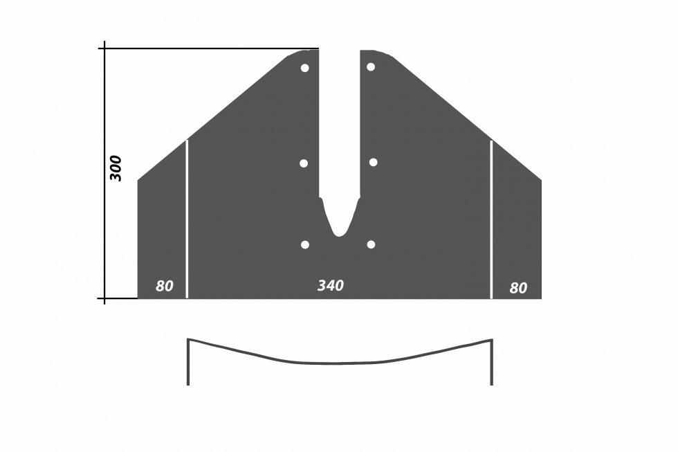 Кавитационная плита на лодочный мотор размеры