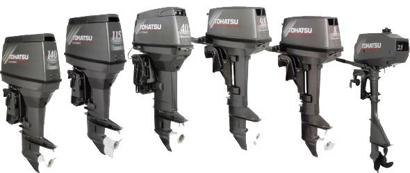 Двухтактные и Четырехтактные Подвесные Лодочные Моторы Двигатели Tohatsu.