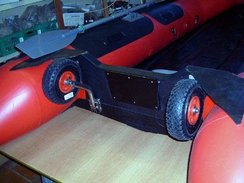 тюнинг лодок колеса