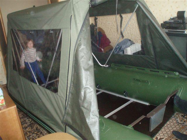 тент палатка для лодки пвх своими руками