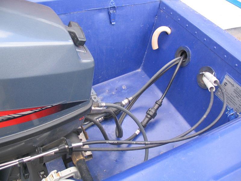 троса дистанционного управления лодочного мотора