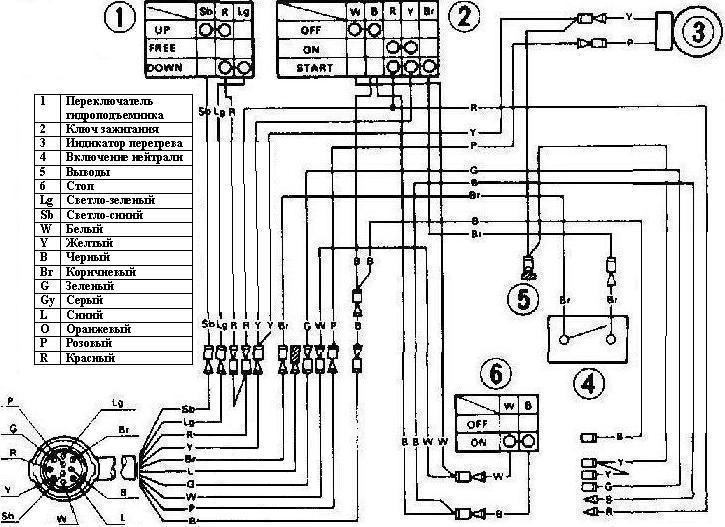 Схема подключения контроллера ямаха 703