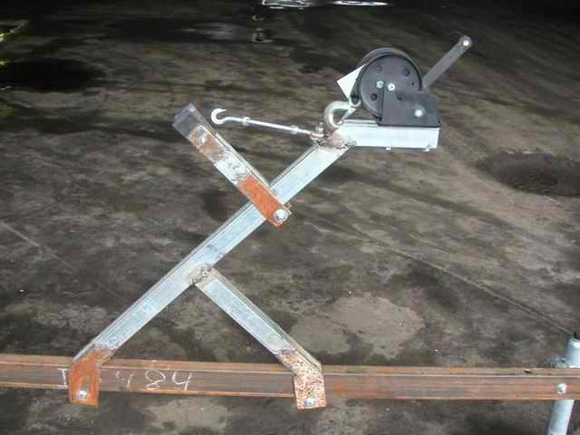 самодельный прицеп для лодки пвх из труб 40х40