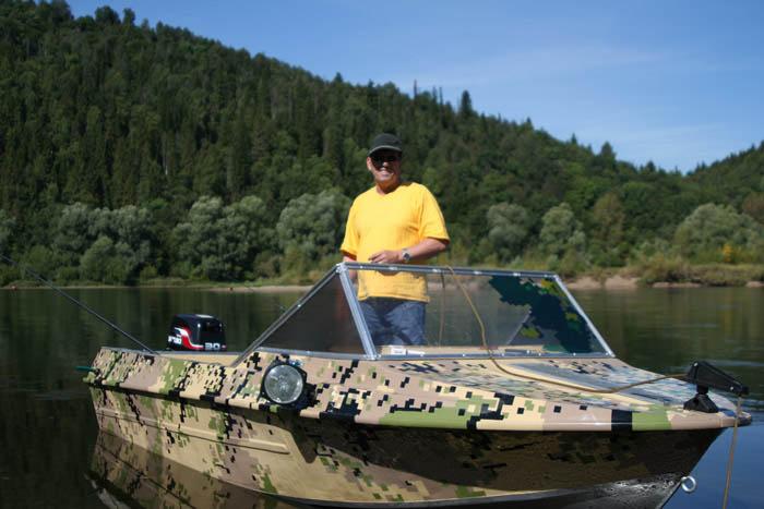 Как покрасить лодку в камуфляж  видео