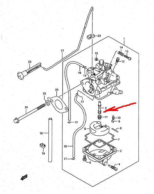 карбюратор для лодочного мотора suzuki df6