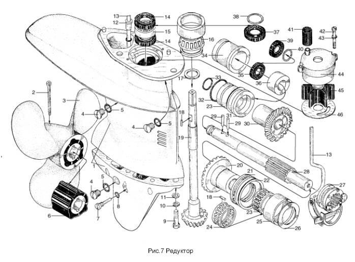 сборка двигателя лодочного мотора ветерок