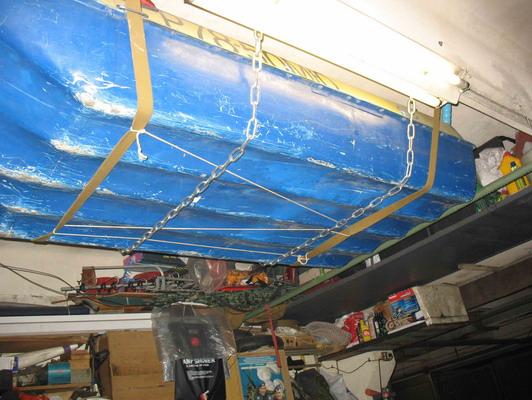 Как подвесить лодку в гараже своими руками 36