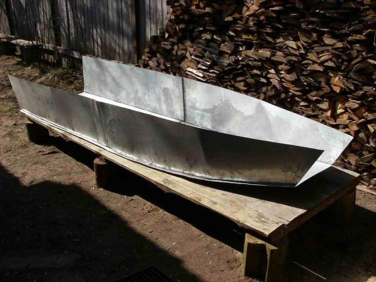 Металлическая лодка своими руками фото 250