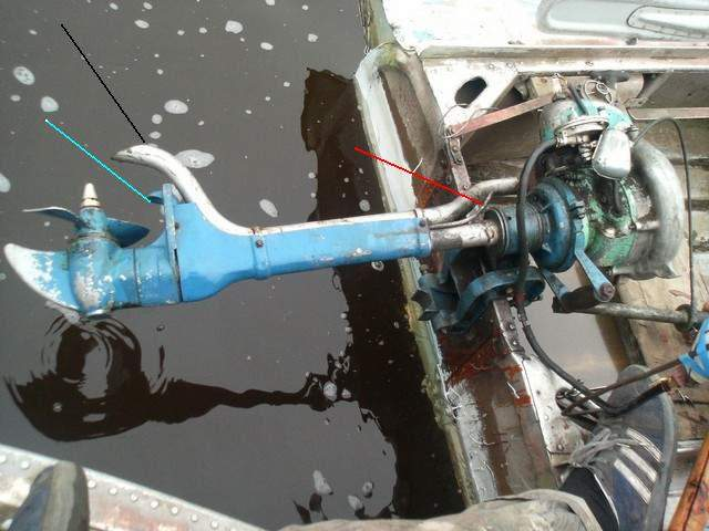 как сделать выхлоп в воду на лодочном моторе из триммера