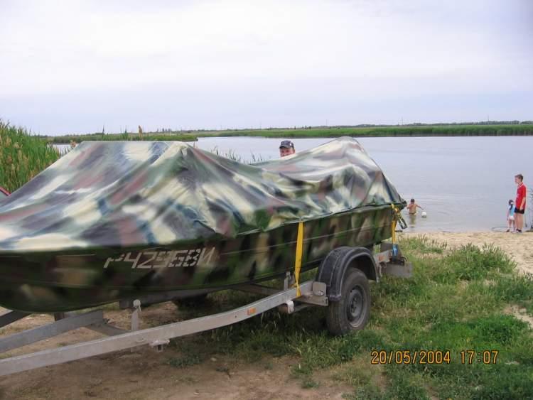 как покрасить лодку крым в камуфляж