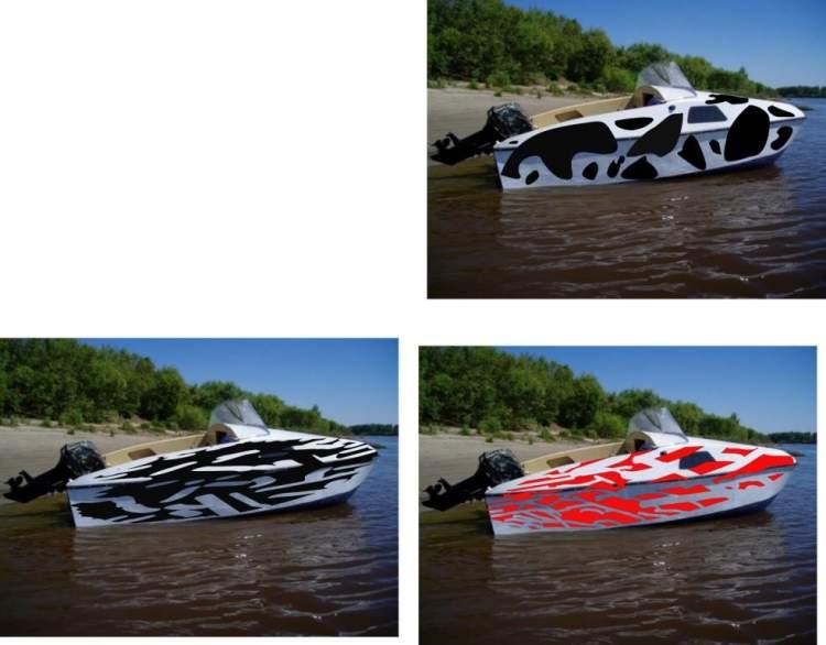 Варианты раскраски лодки