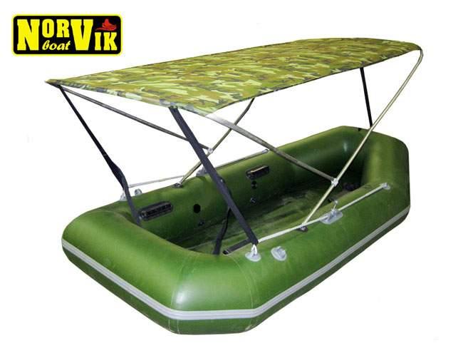 тент крыша для лодки пвх размеры