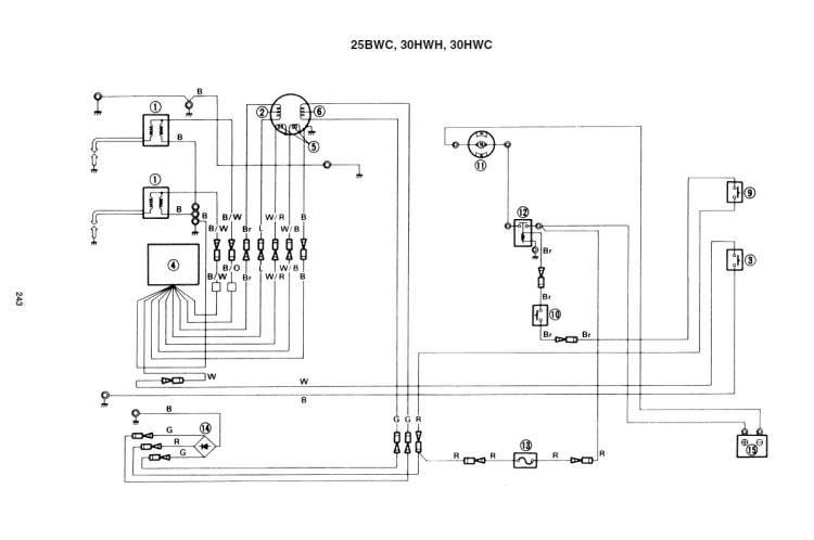 Схема электрооборудования лодочного мотора yamaha