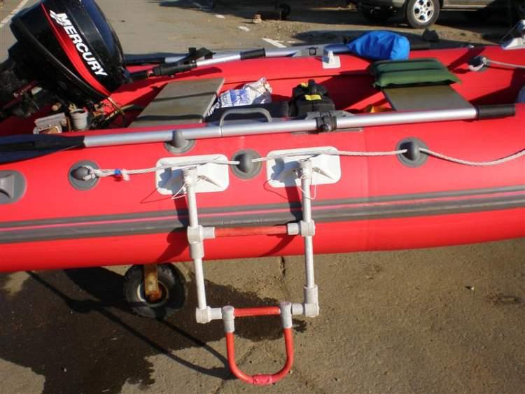 Лестница для лодки пвх своими руками 120
