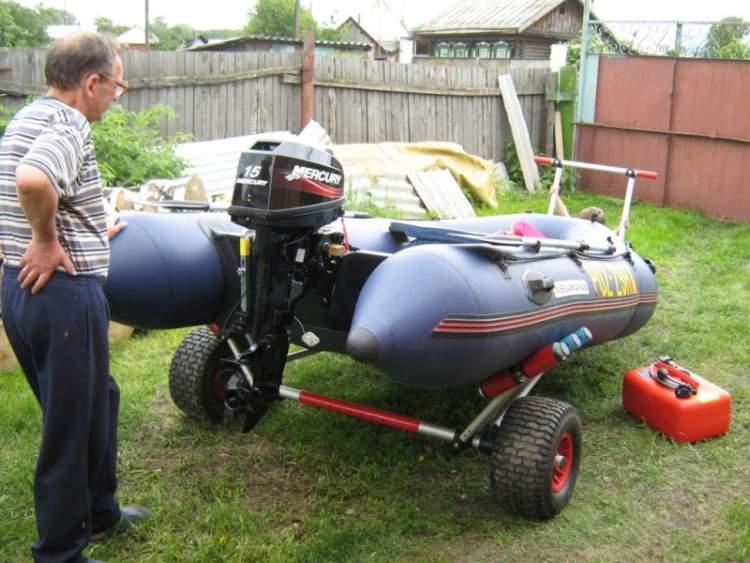 Транцевые колёса для пластиковой лодки своими руками 50