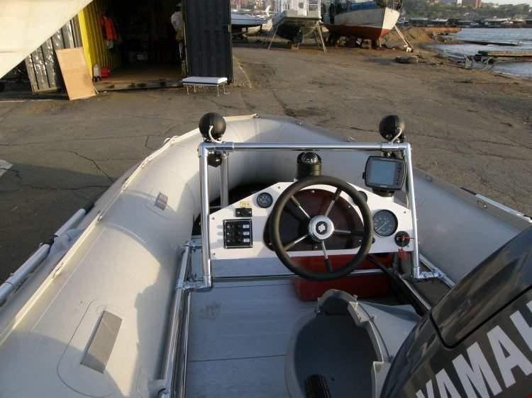 как сделать рулевое управление для лодки пвх