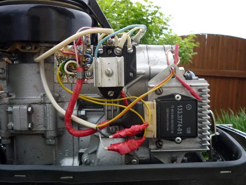 Как сделать зажигание на лодочный мотор 921