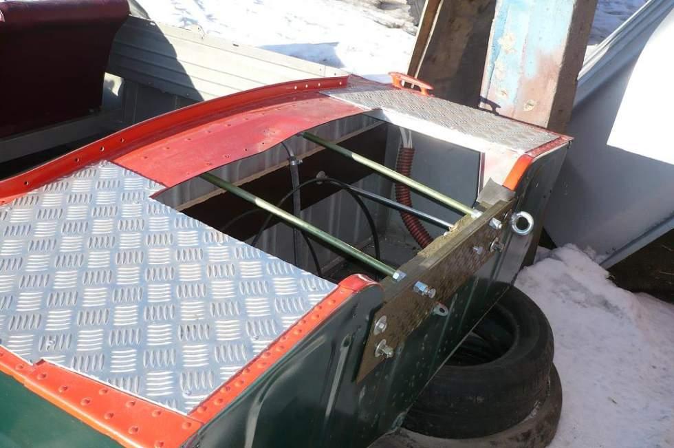 как переделать транец на лодке пвх