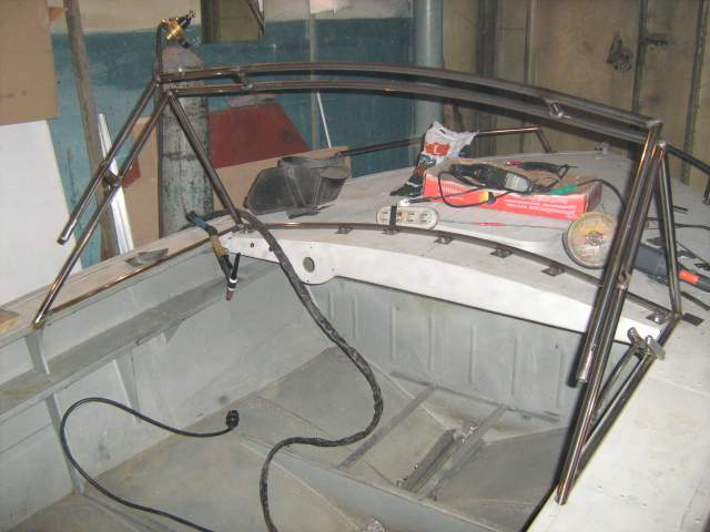 Изготовление лобового стекла на лодку своими руками 94