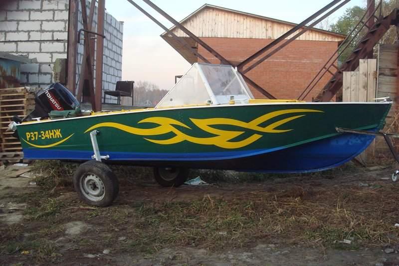 покраска моторной лодки сам