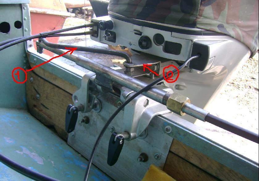 Дистанционное управление на лодочный мотор своими руками 335