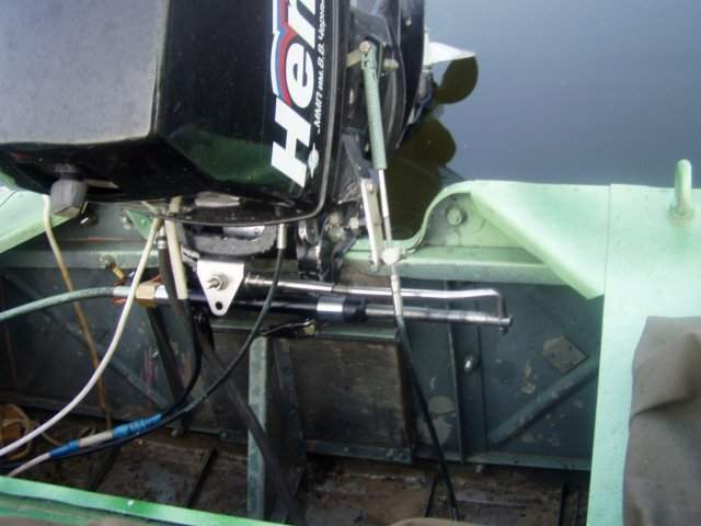 установить рулевое управление на лодку видео