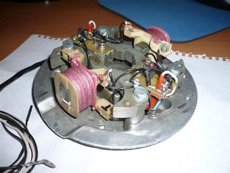 установка зажигания на моторе ветерок 8