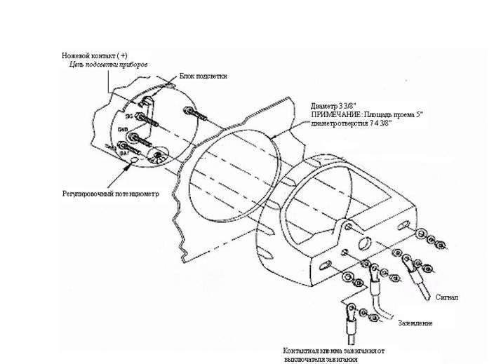 Инструкция по установке тахометра подвесного двигателя.