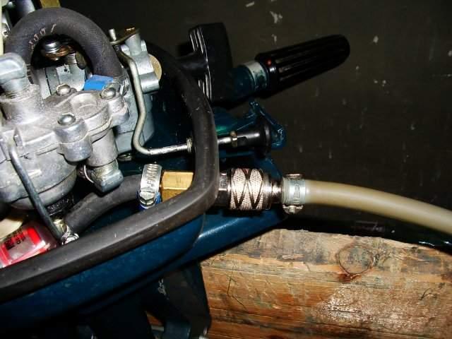 штуцер быстросъемный лодочного мотора