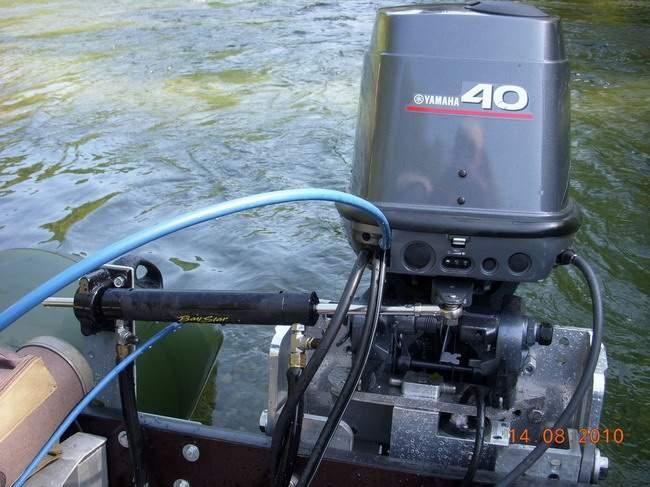 установка гидравлики на лодочный мотор