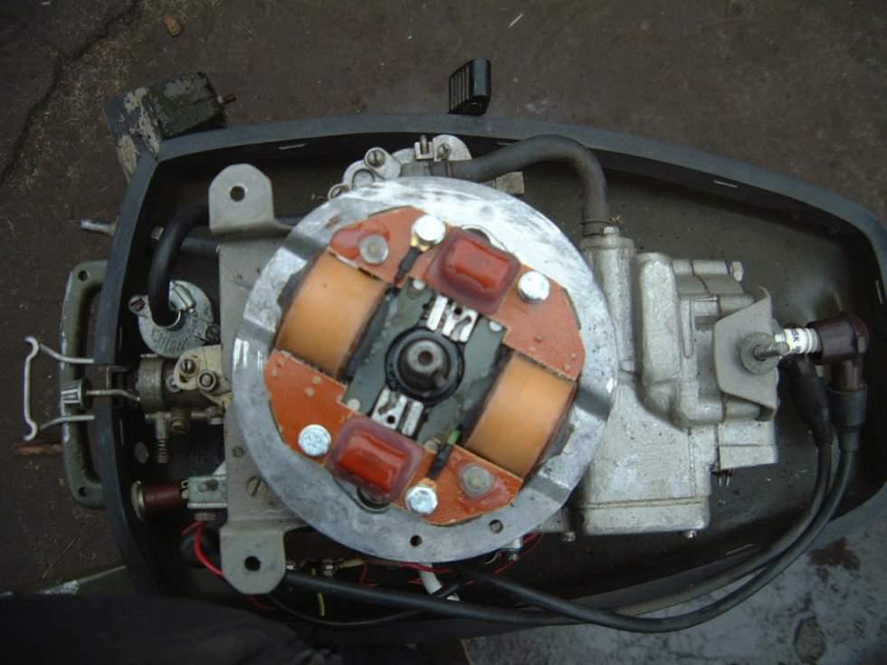 Регулировка горючей смеси и зажигания мотора «Ветерок»