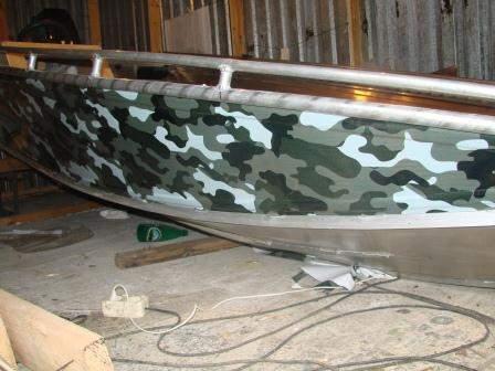 Видео покраски лодки в камуфляж своими руками