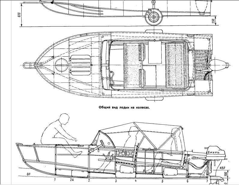 размеры кокпита лодки мкм