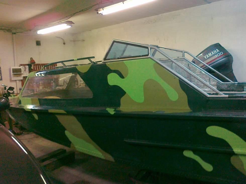 как покрасить лодку в защитный цвет