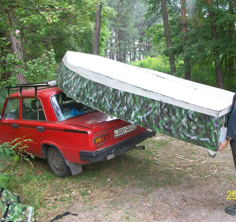 приспособления для погрузки лодки на машину